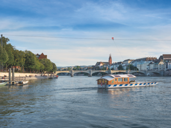 11. Drift over the Rhine in Basel