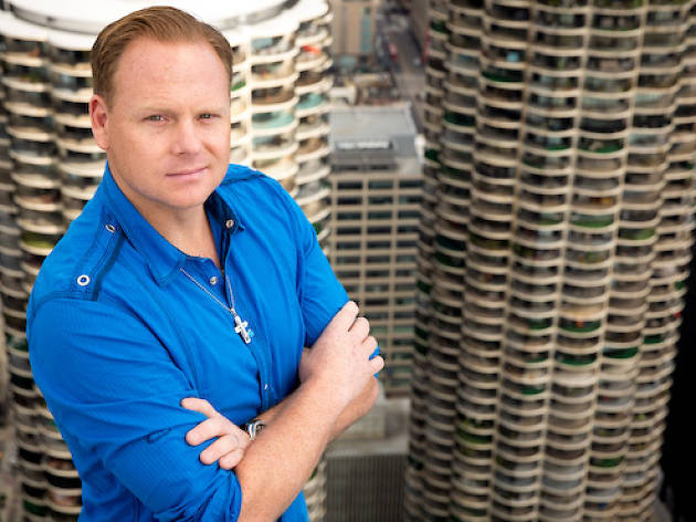 Nik Wallenda will walk between the Marina City towers and the Leo Burnett Building on Sunday, November 2.