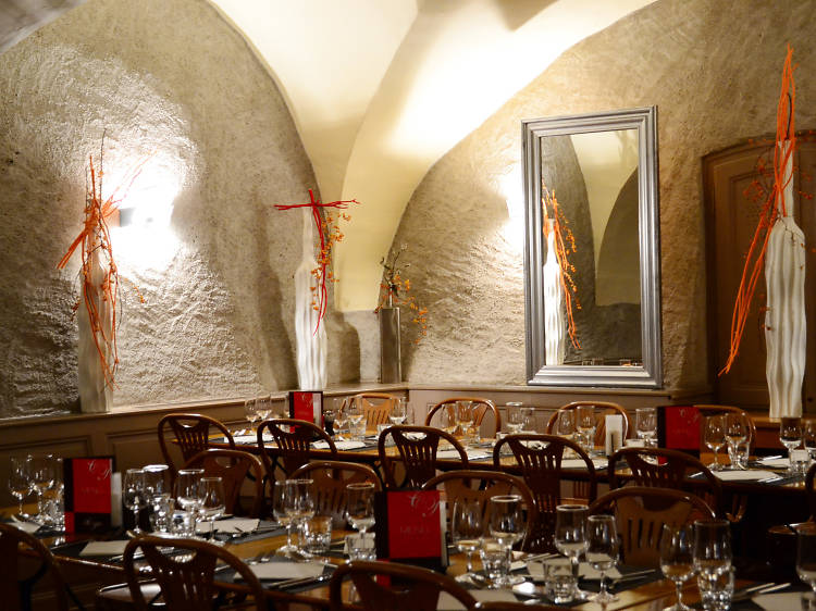 Dine in a historic building at Café Papon