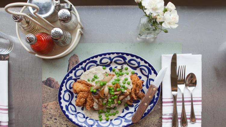 Chicken fried chicken at Dove's Luncheonette.