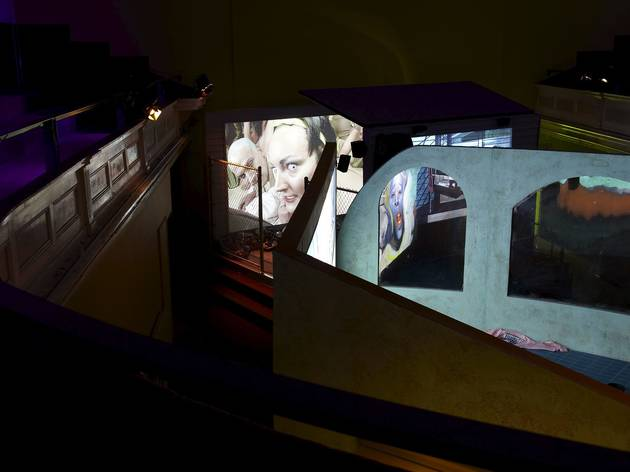 Lizzie Fitch/Ryan Trecartin (Installation view of Priority Innfield, 2013 at Zabludowicz Collection, London, 2014)