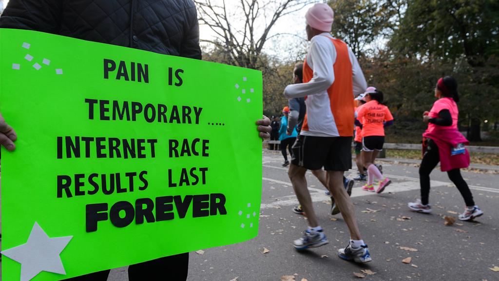 The funniest marathon spectator signs