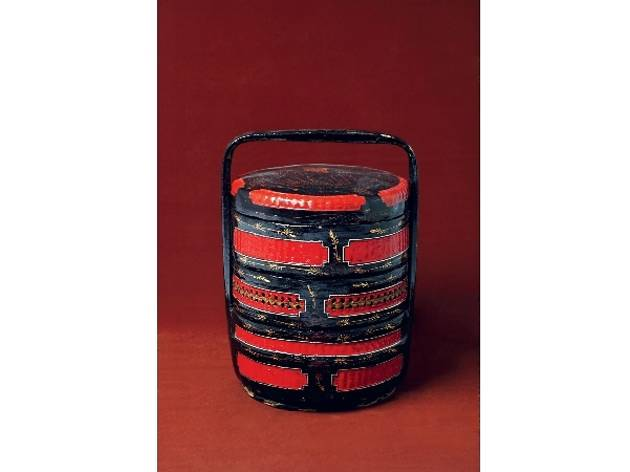 Red & black lacquered baskets