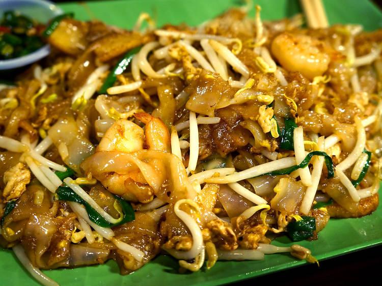 Savour Penang's iconic stir-fry, char kuay teow