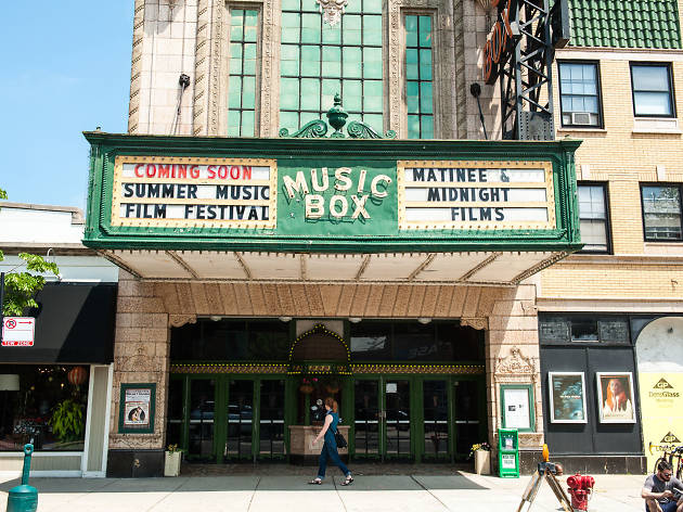The vintage facade of the Music Box makes it one of the best movie theaters in Chicago.