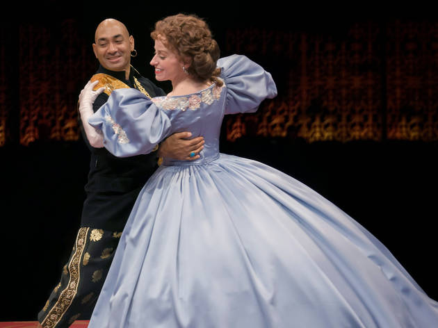 Heidi Kettenring and Andrew Ramcharan Guilarte in The King and I at Marriott Theatre