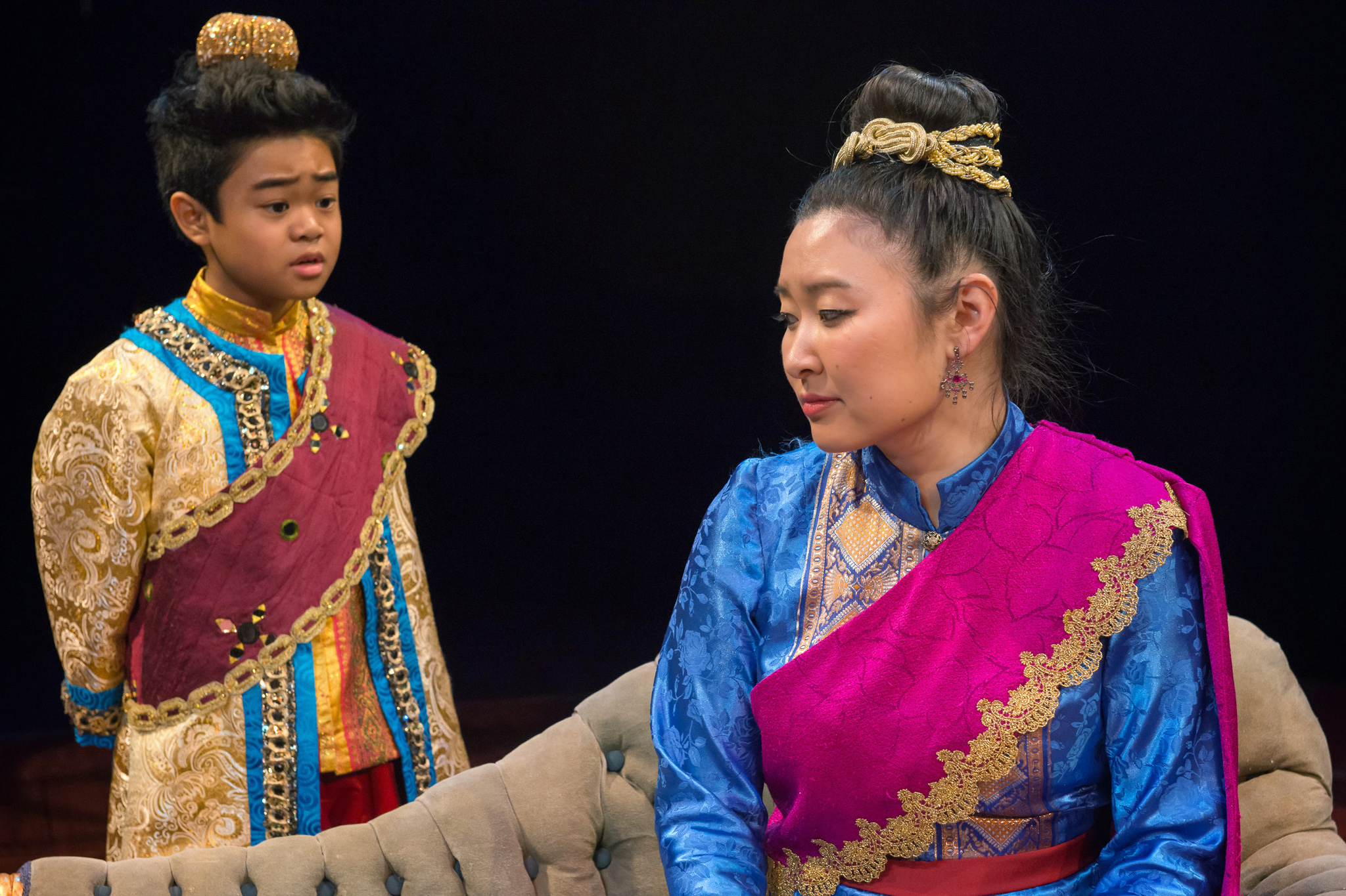 Matthew Uzarraga and Kristen Choi in The King and I at Marriott Theatre