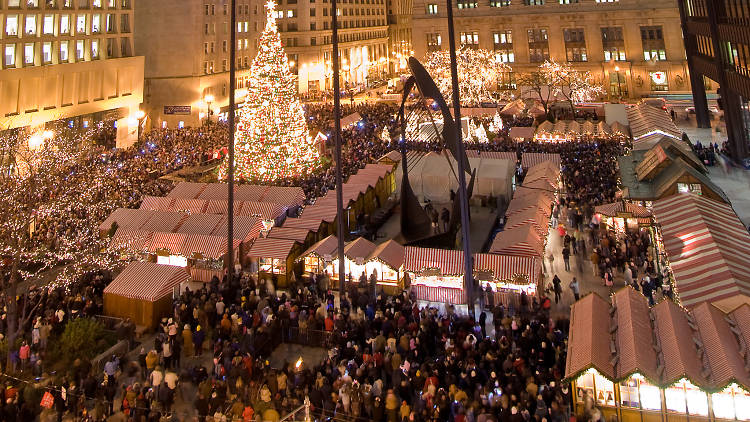 Mercado navideño de Chicago