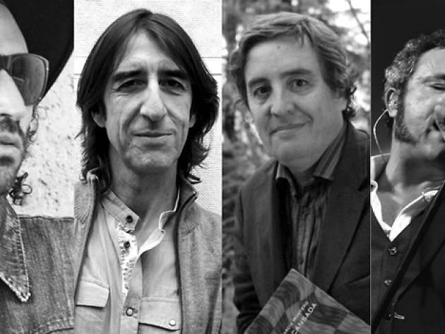 Benjamín Prado, Leiva, Luis García Montero & Carlos Tarque