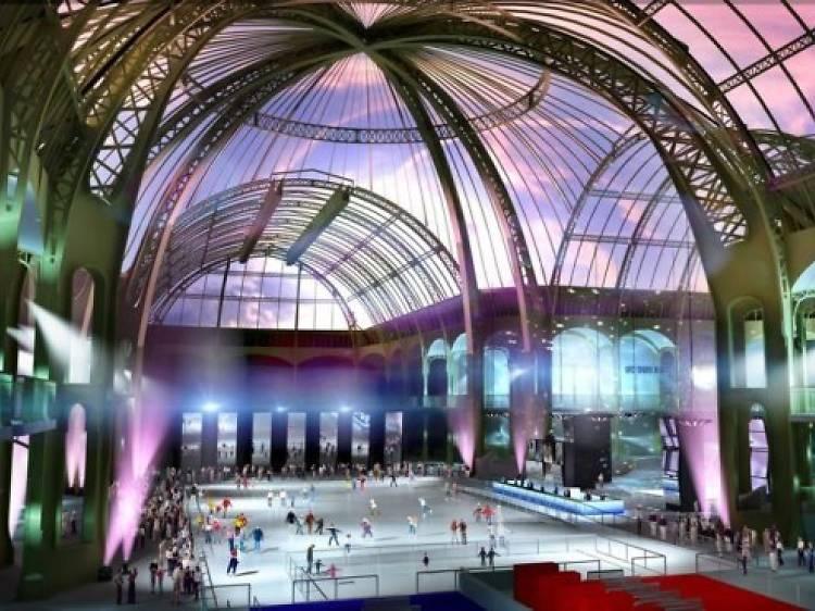 Glisser sous la nef du Grand Palais