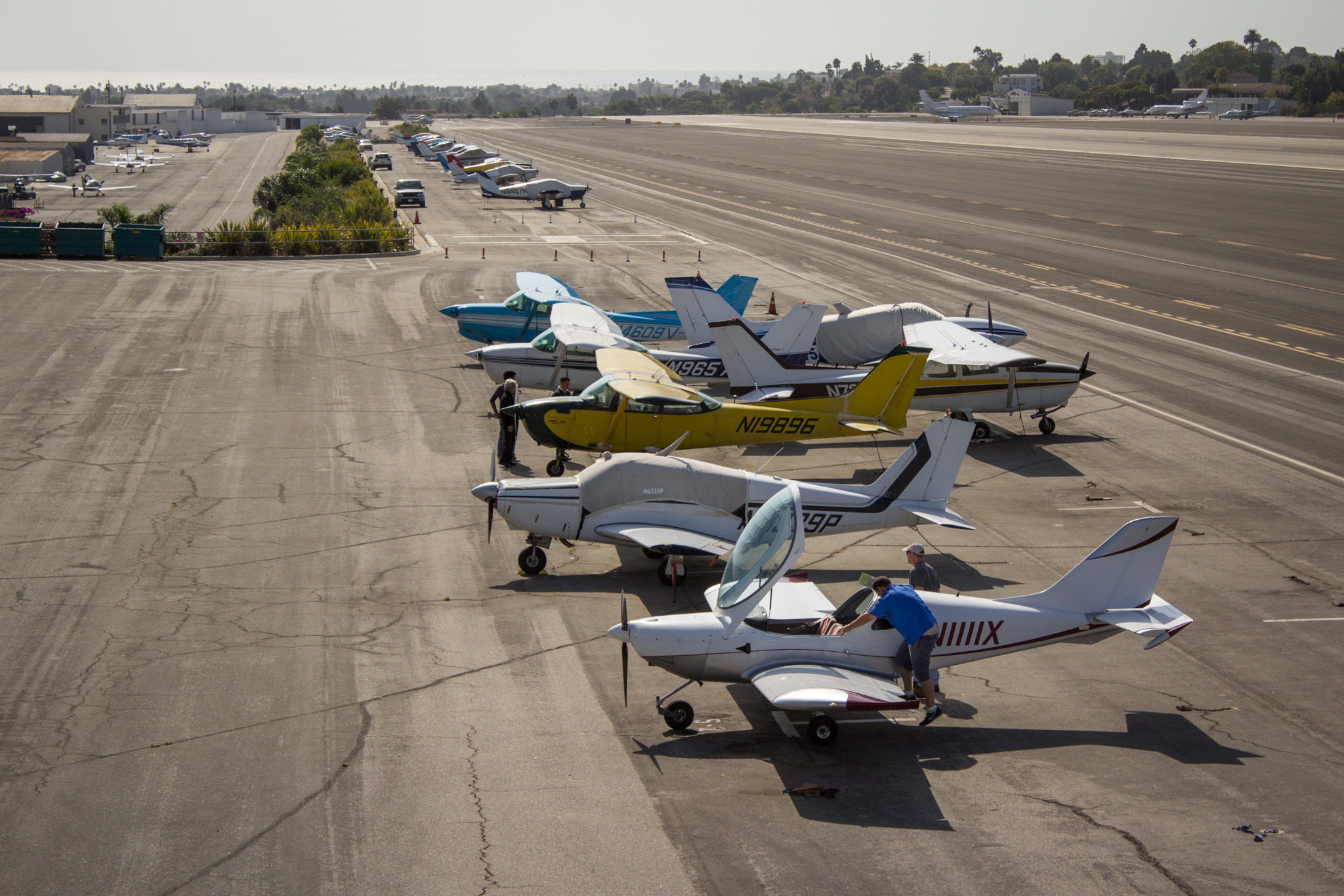 Santa Monica Airport observation deck.