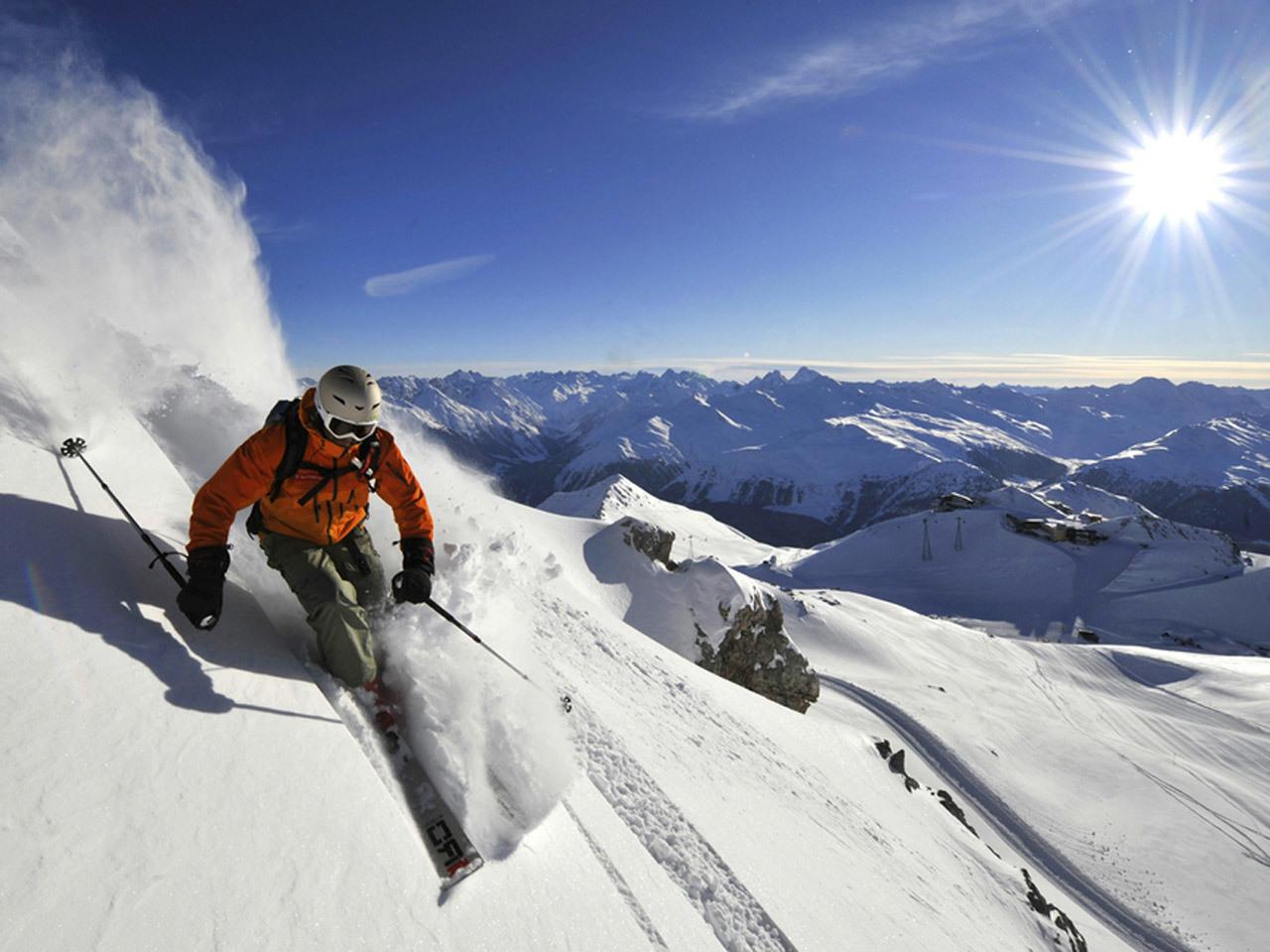 switzerland, skiing, skier