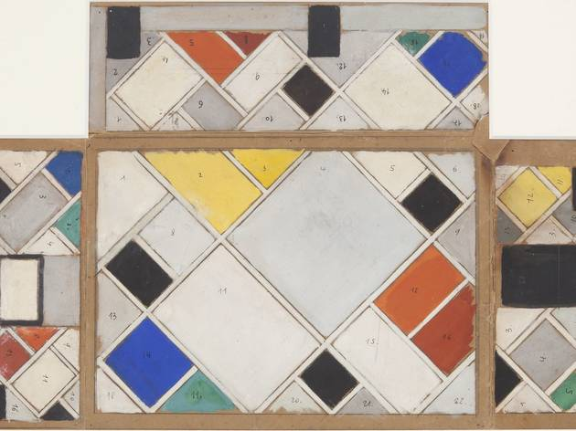Theo van Doesburg ('Colour design for ceiling and three walls, Small Ballroom, conversion of Café Aubette interior, Strasbourg', 1926-1927)