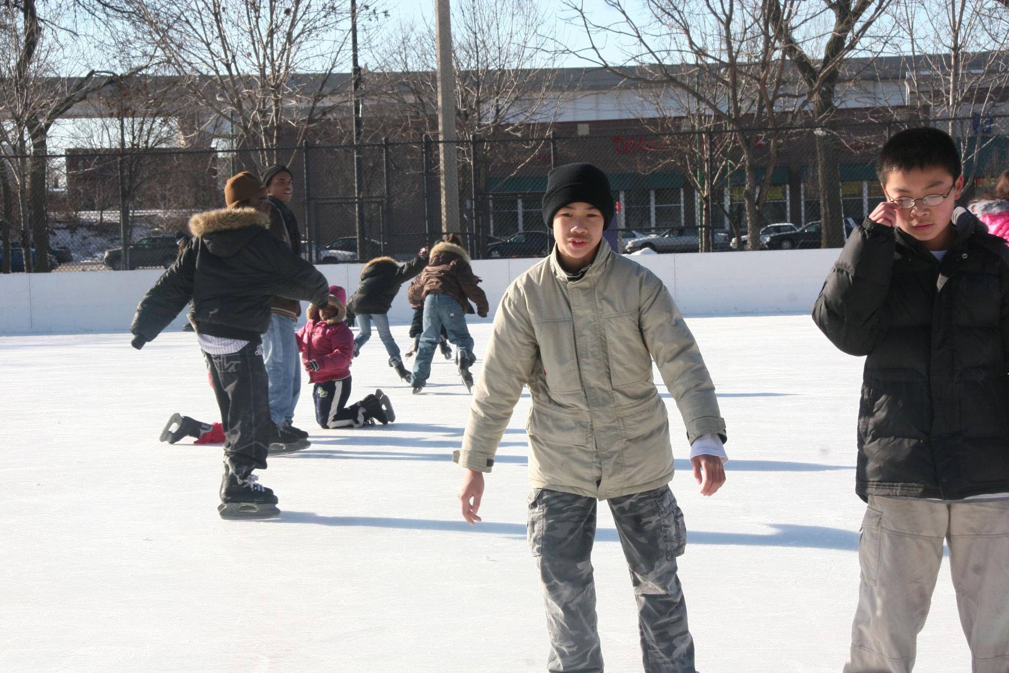 Ice Skating at McKinley Park