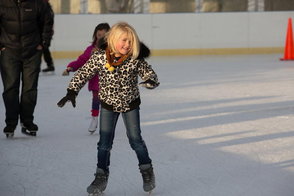 Ice Skating at Riis Park