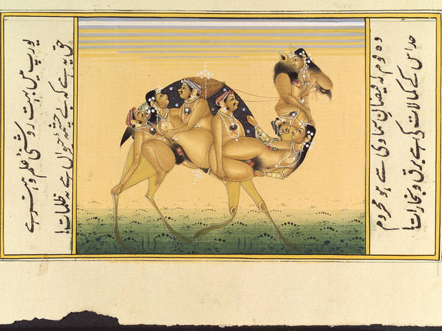 (A camel composed of copulating humans, Gouache painting, 19th C, India © Wellcome Library, London)