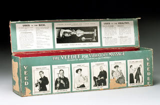 (Veedee vibratory massager box, German, early 20th century © Science Museum, London and Wellcome Collection)