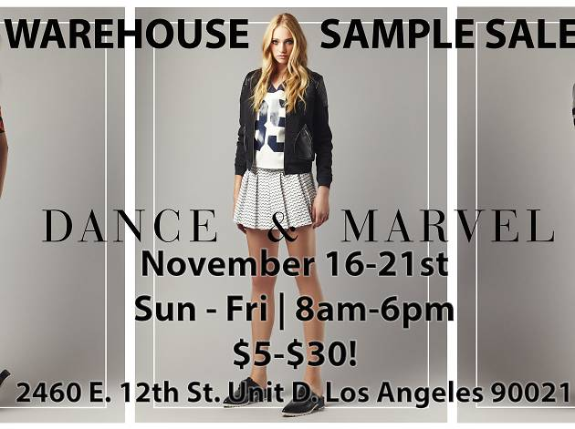 Dance and Marvel Warehouse Sale