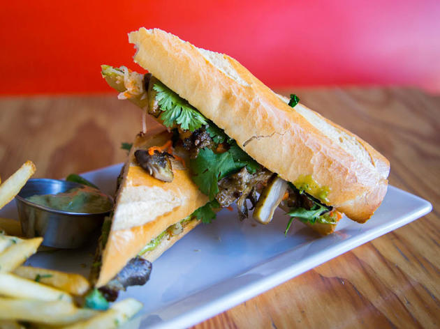 Roasted cauliflower banh mi at Good Girl Dinette