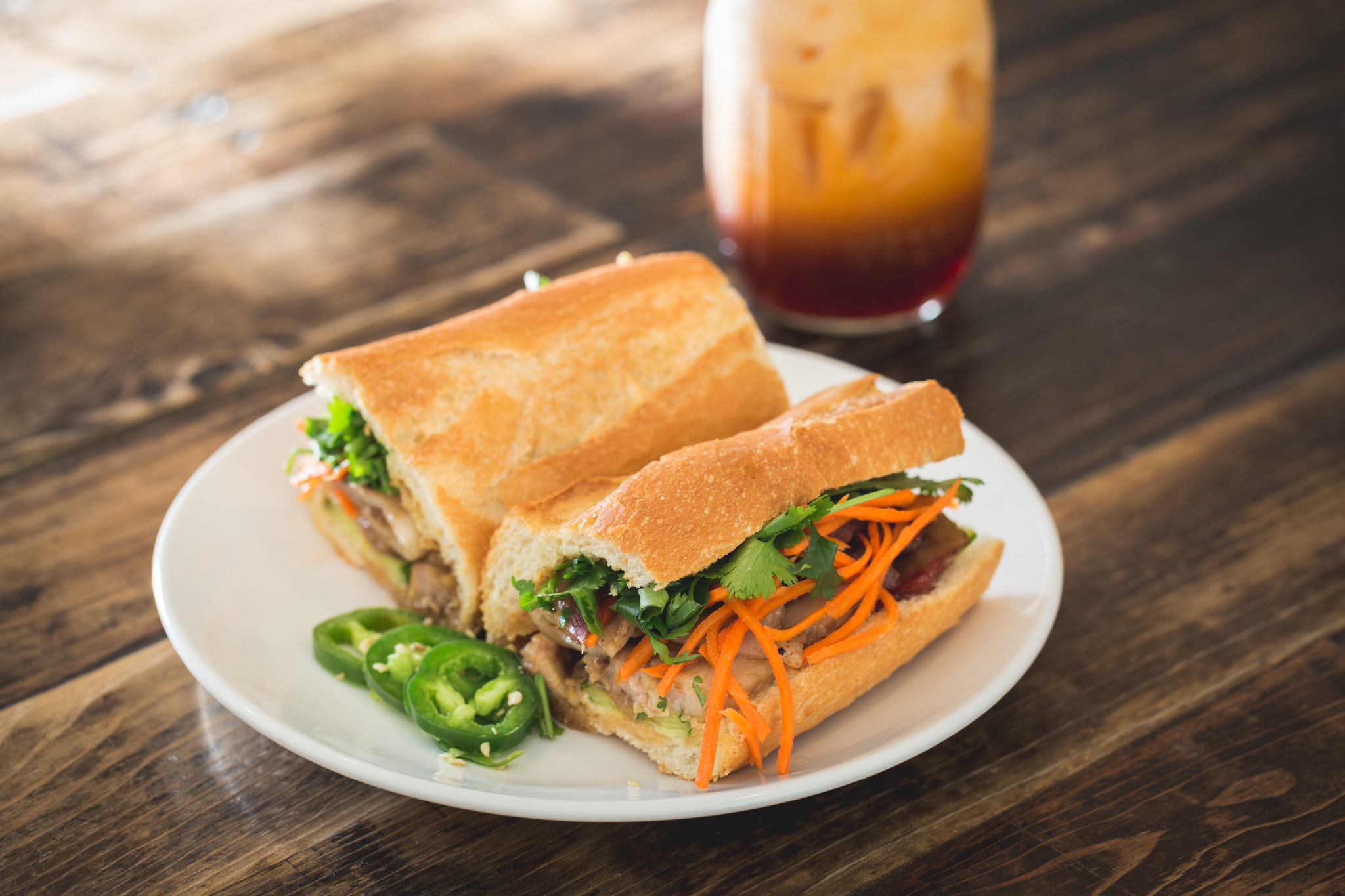 Kurobuta pork belly banh mi at Phorage