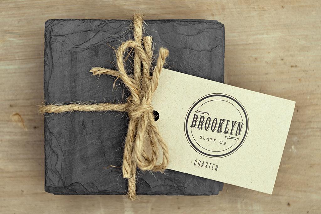 Brooklyn Slate Company coasters, four for $22