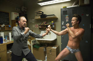 Michael Keaton y Edward Norton