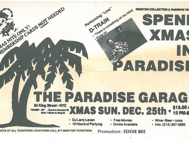 A Night in Paradise Ministry of Sound party – Paradise Garage DJ