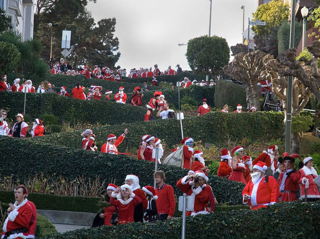 SantaCon on Lombard St