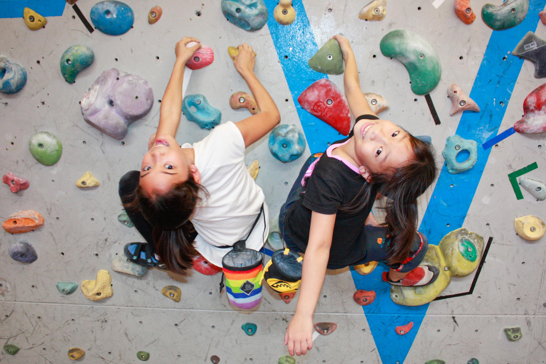 Rock climb at Climb Asia