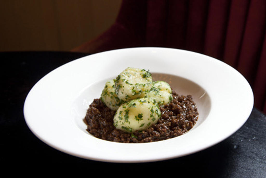 Mince and tatties at Dean Street Townhouse