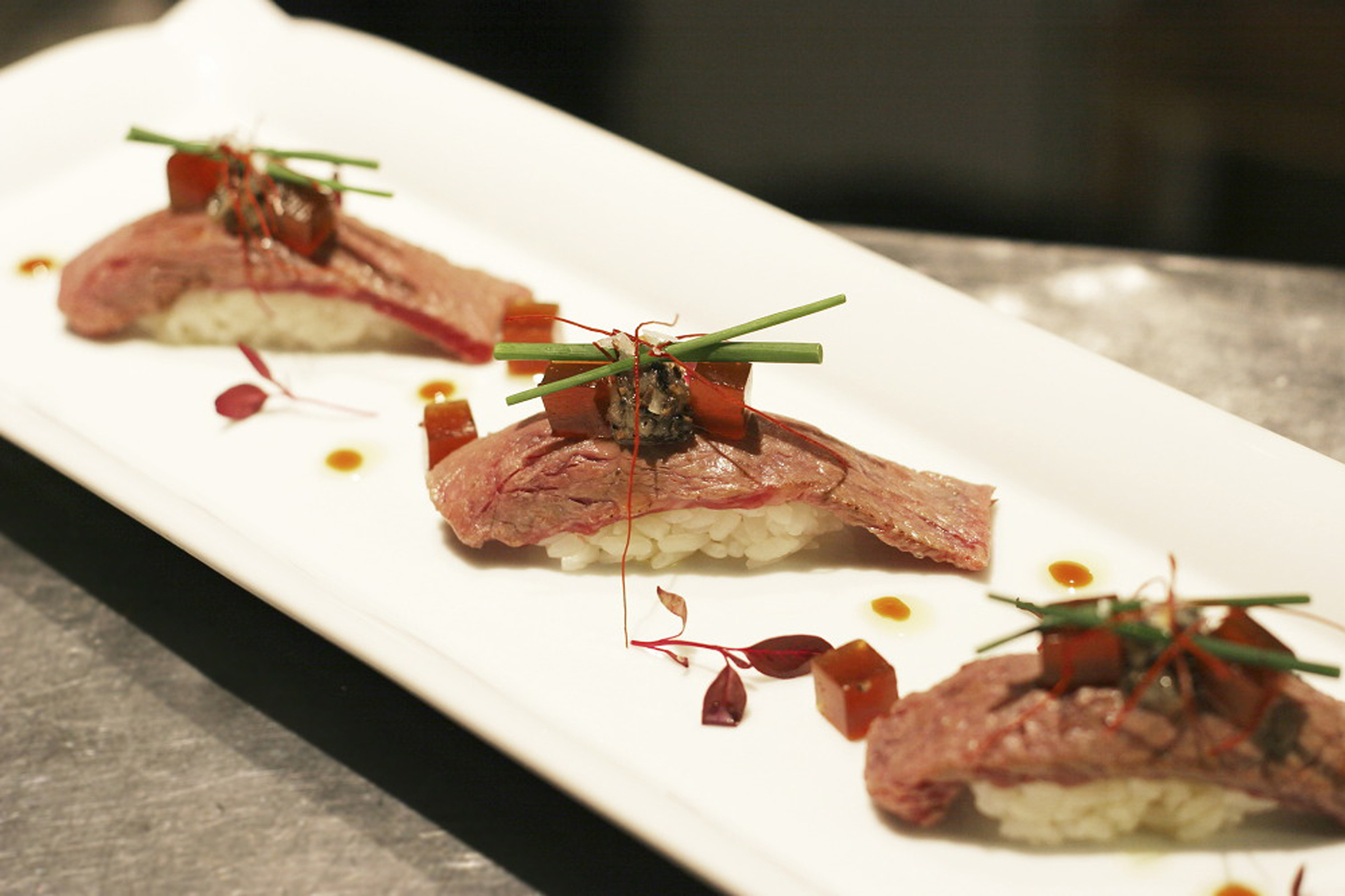 100 best dishes in London - dinings - wagyu beef nigiri