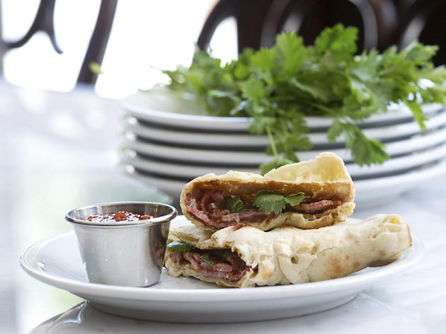 100 best dishes in London - dishoom - bacon naan roll