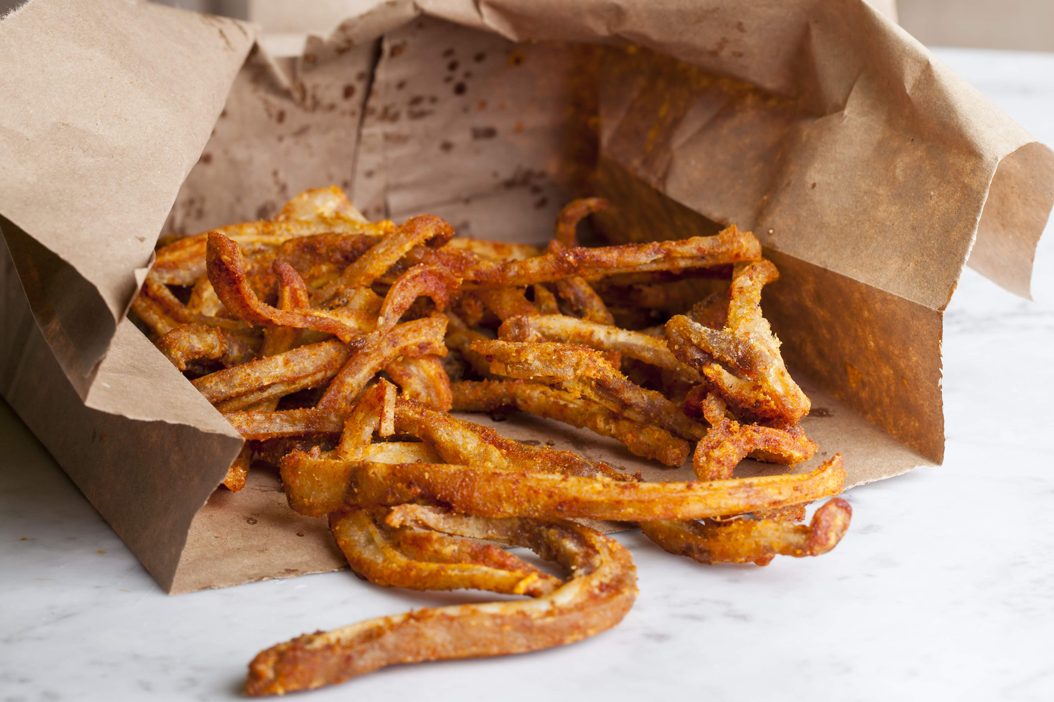 BBQ-spiced crispy pigs' ears at Duck & Waffle