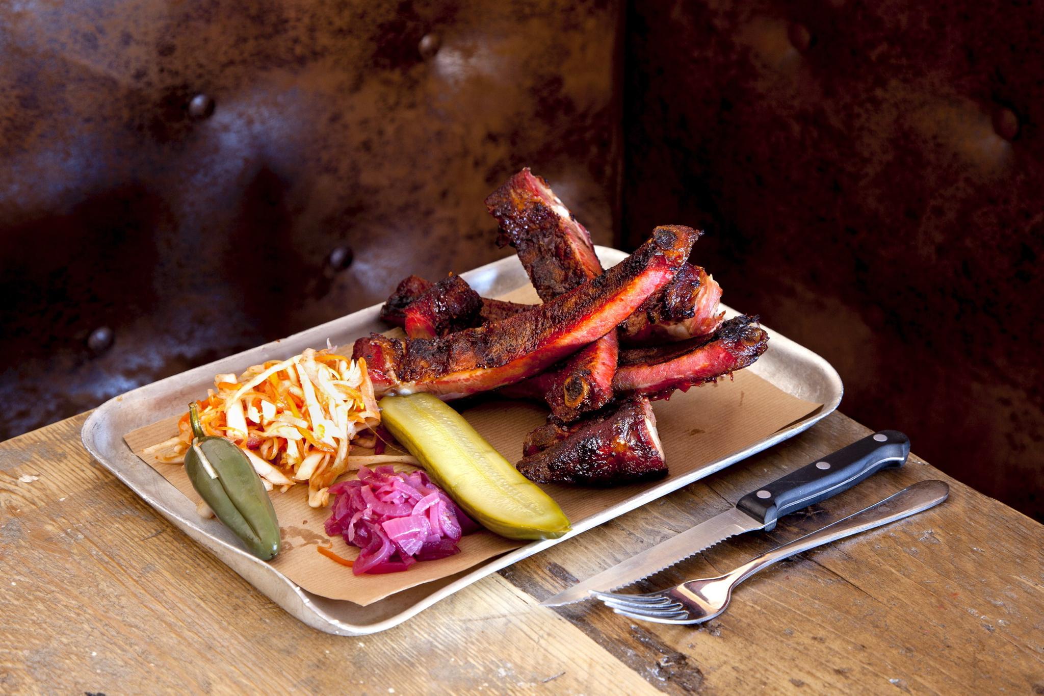 Pork ribs at Duke's Brew & Que