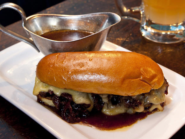 Short-rib French dip at Hawksmoor Spitalfields Bar
