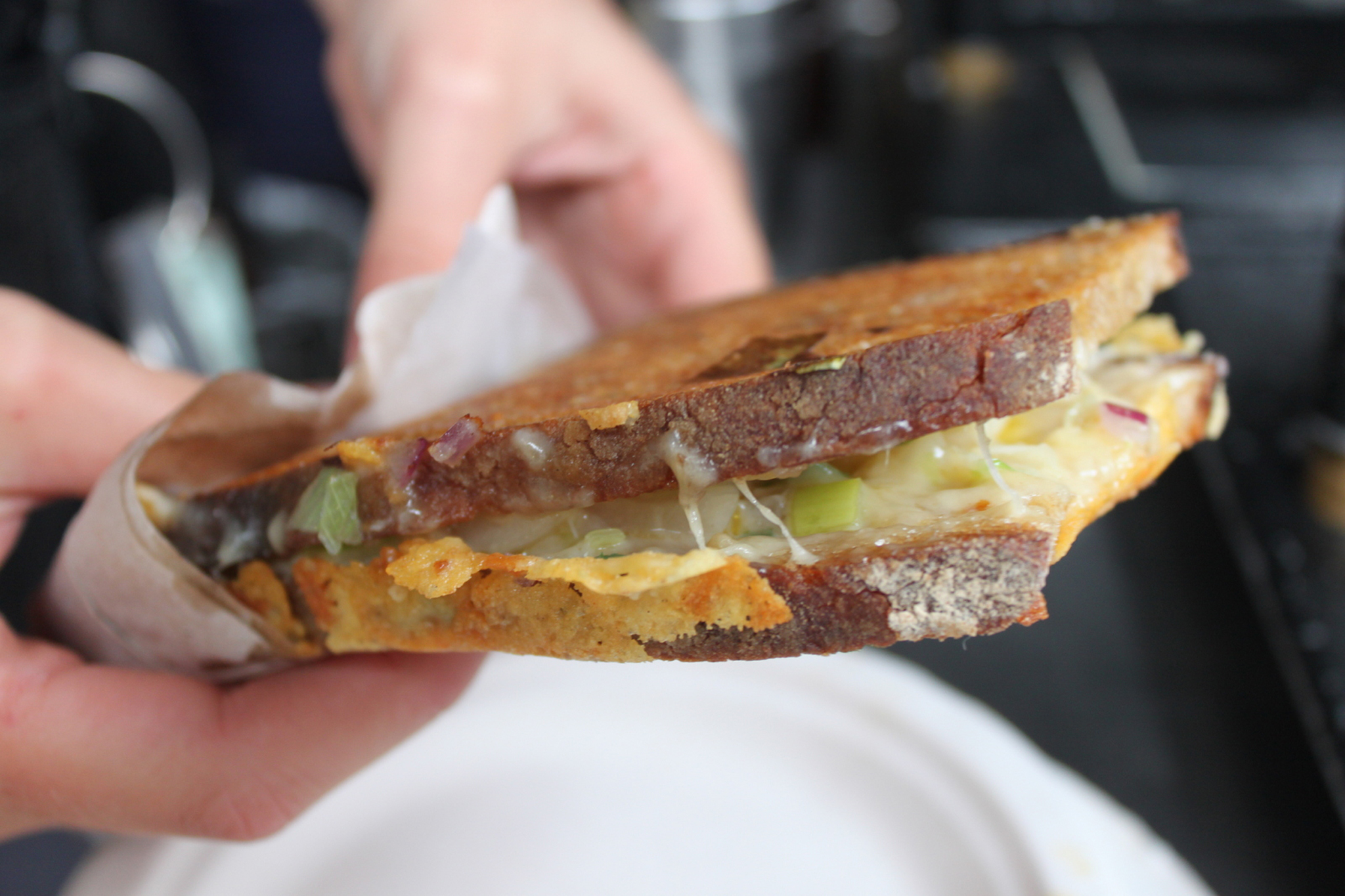 Toasted cheese sandwich at Kappacasein, Borough Market