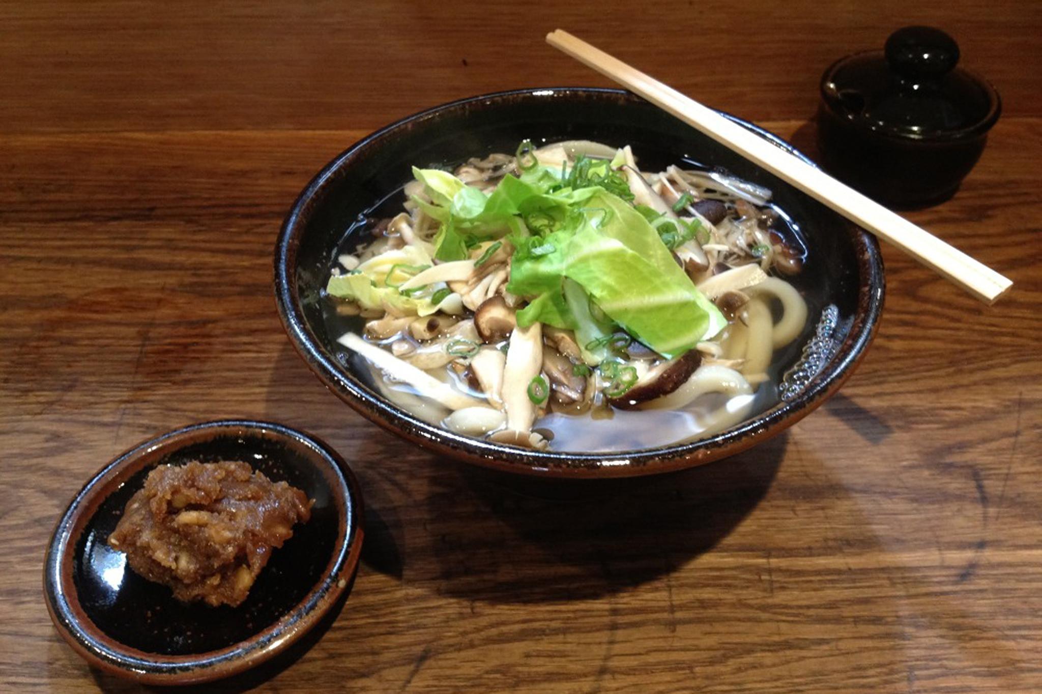Walnut miso udon at Koya