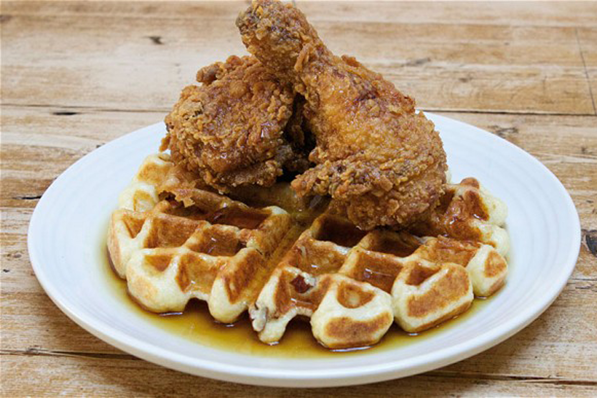 100 best dishes in London - the lockhart - chicken waffle