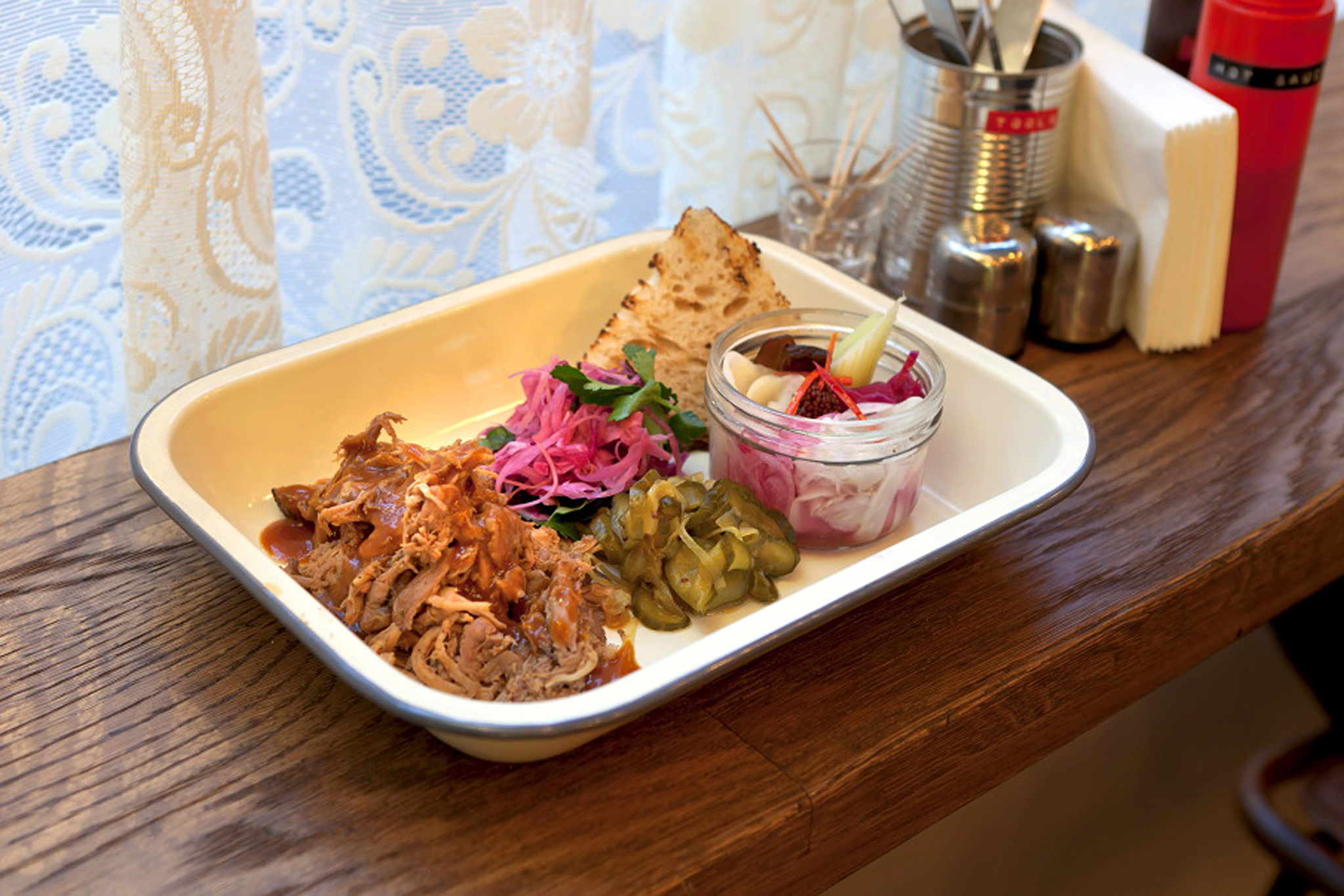 Pulled pork at Pitt Cue Co