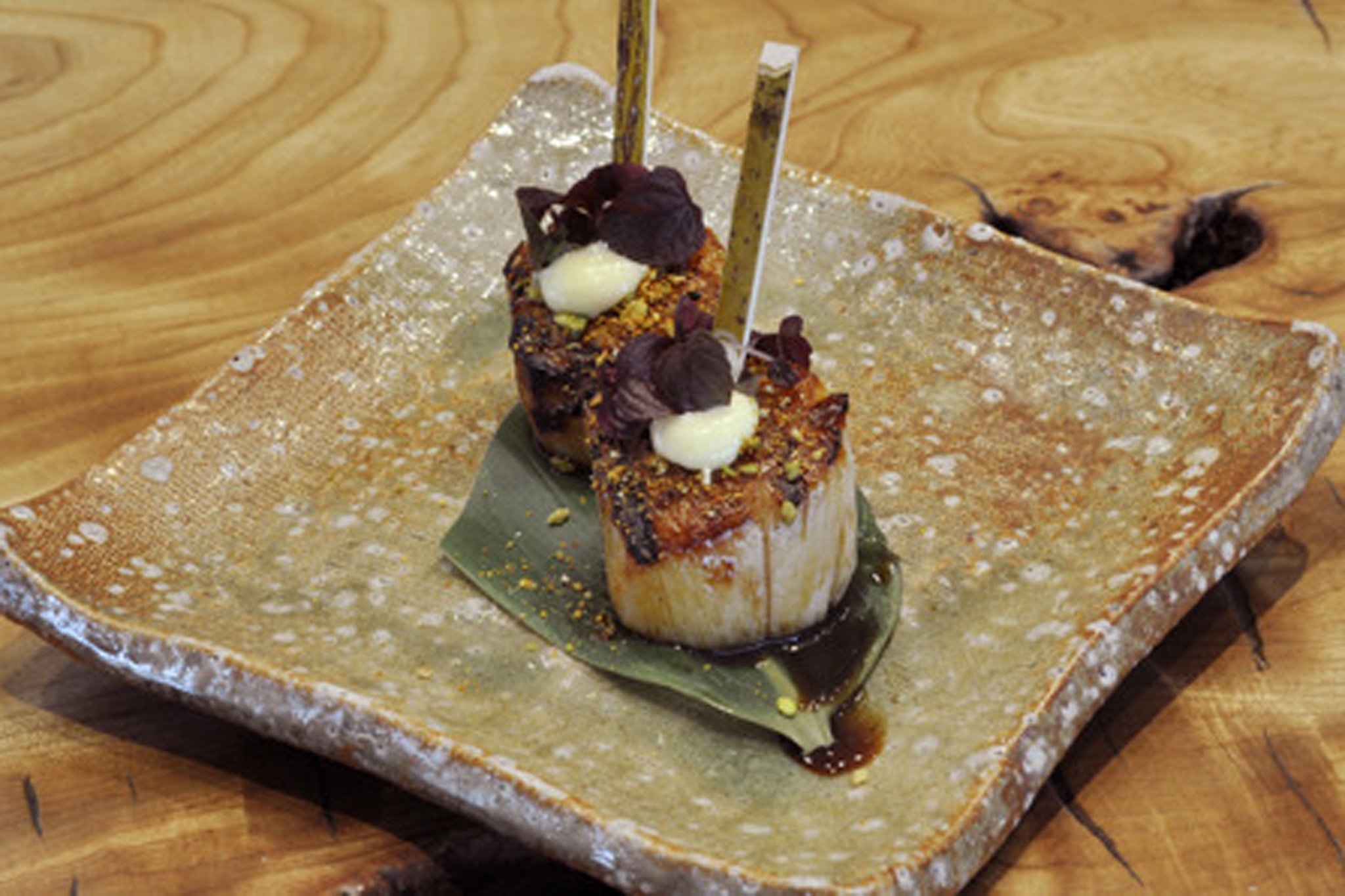 Robata-grilled scallops at Roka
