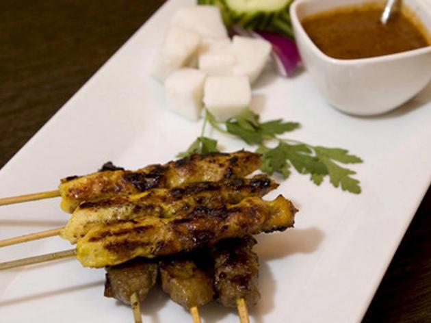 Chicken satay at Satay House