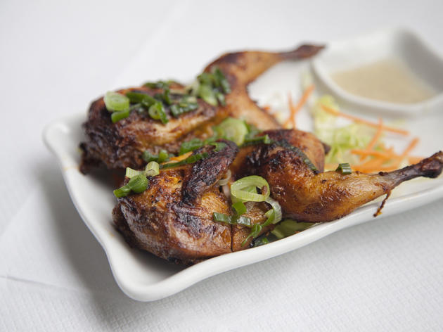 Chargrilled quail at Song Que