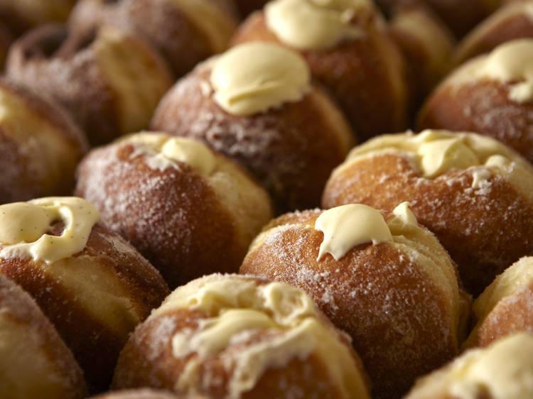Buy doughnuts at Maltby Street Market