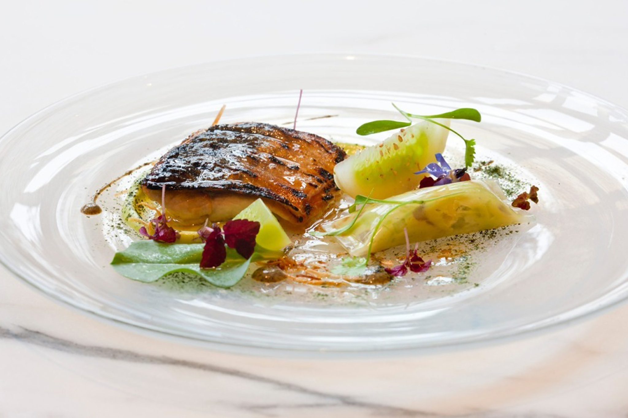 100 best dishes in London - the ledbury - flame-grilled mackerel