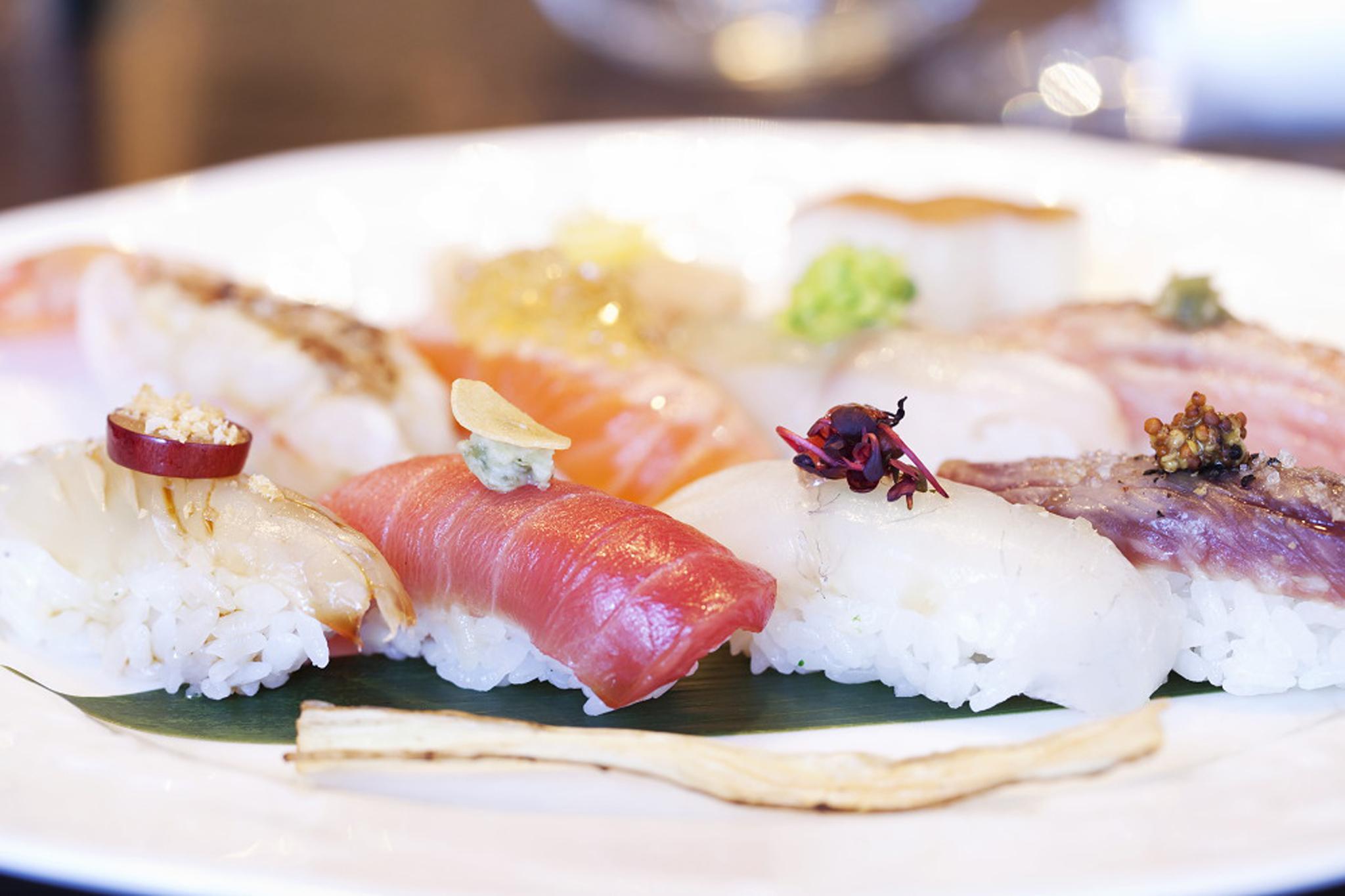 Nigiri sushi at Yashin