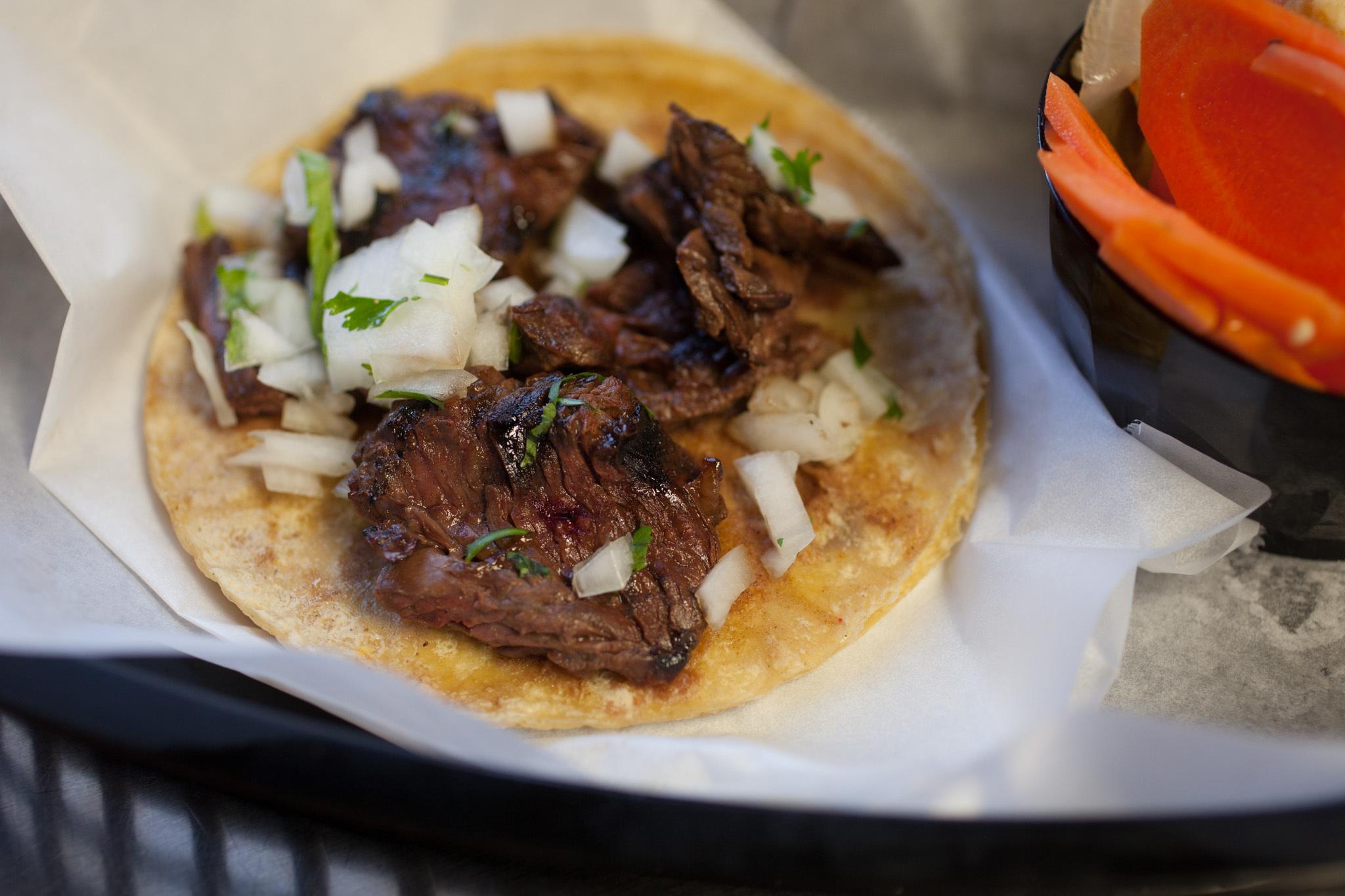 Carne Asada taco at L'Patron.