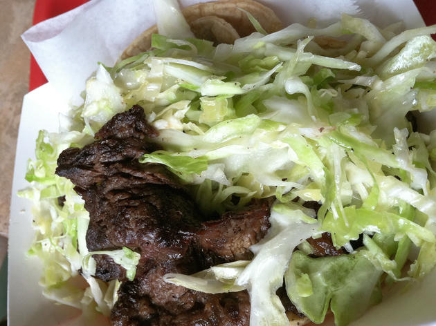 Grilled Steak Taco at Taqueria El Milagro