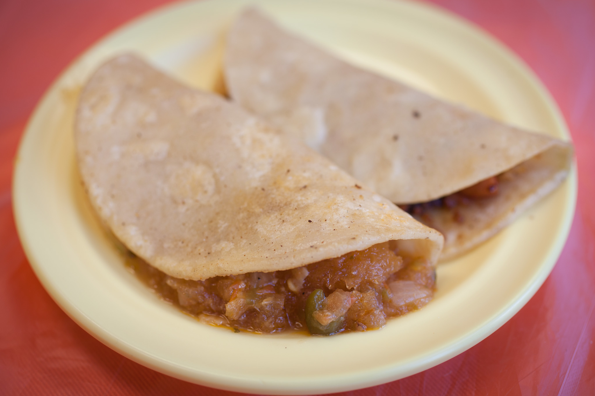 Tacos De Canasta Papa at La Chilangueada.
