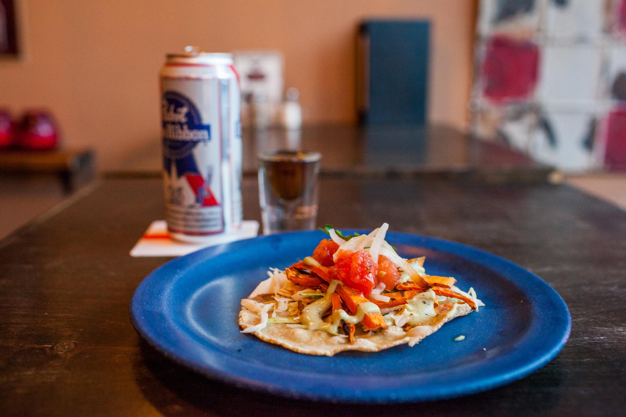 Tacos at Bullhead Cantino
