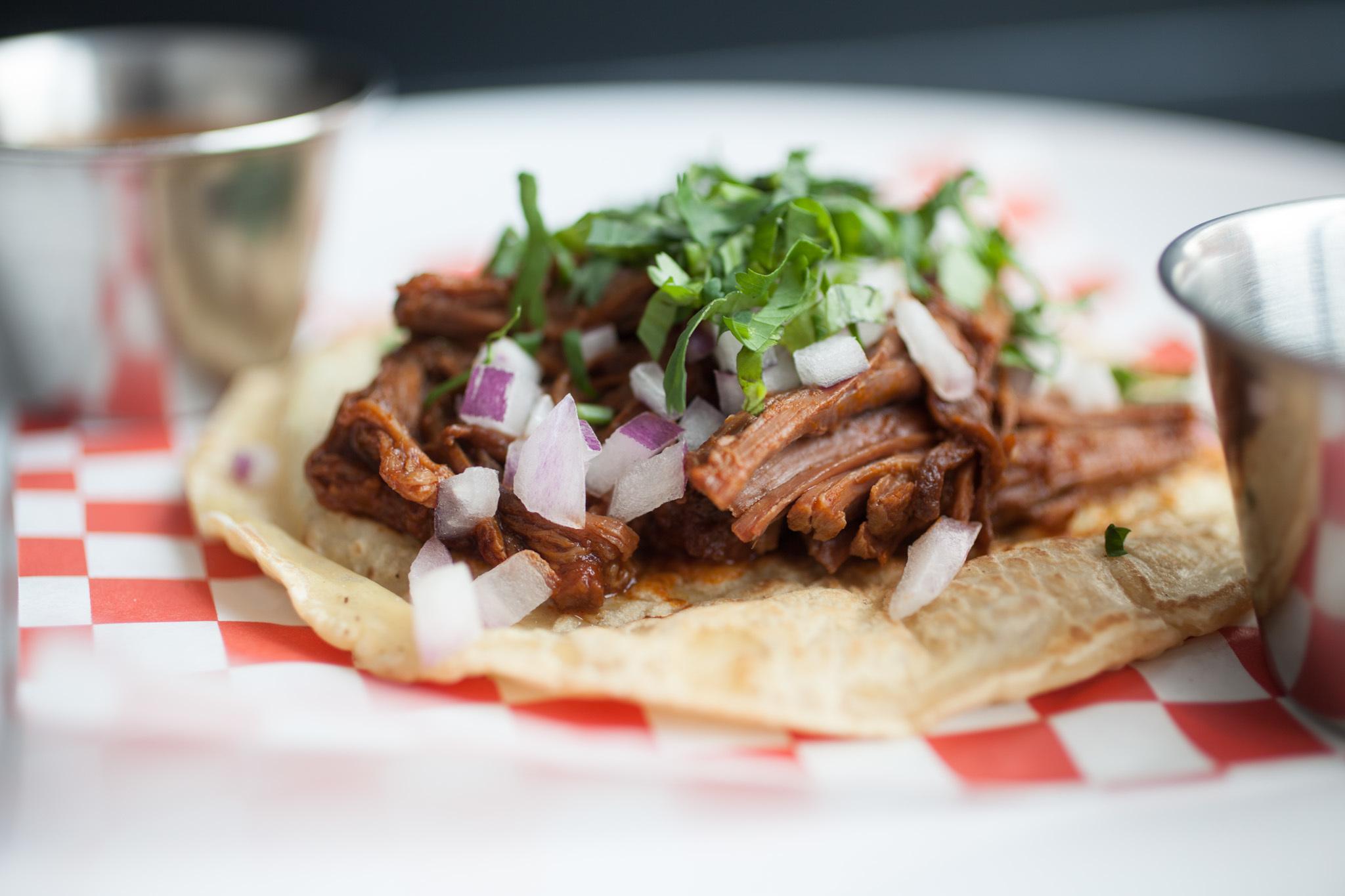 Barbacoa taco at Tamale Station